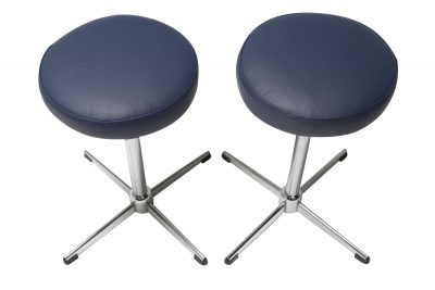 pair of chrome retro stools