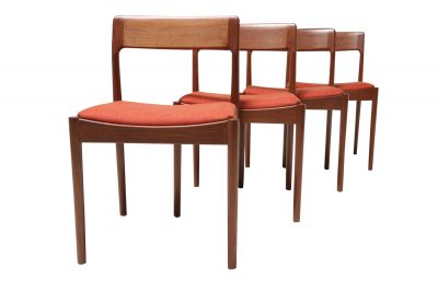 Johannes Noorgaard Dining chairs in orange