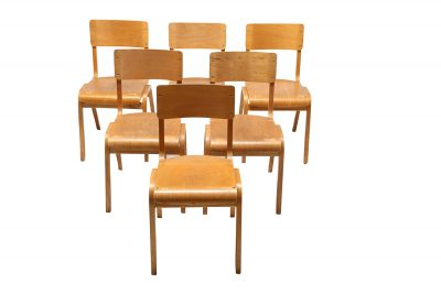 Industrial plywood stacking chairs vintage cafe chairs bar restaurant chairs Dublin Ireland