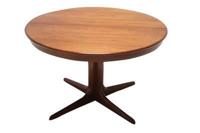 Teak extending dining table by Niels Koefoeds 001