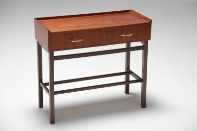 Rosewood and brass side table