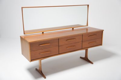 Teak 6 drawer Vanity Unit with mirror
