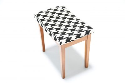 Teak Upholstered Stool