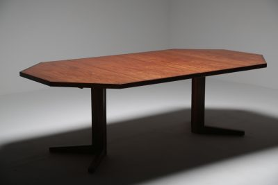 Rosewood octagonal dining table by Drylund