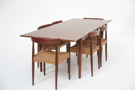 Dyrlund Extending Teak Dining Table vintage furniture Ireland Danish furniture Dublin