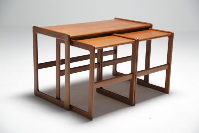 Midcentury Nesting Tables by Arne Hovmand Olsen for Mogens Kold, Denmark Vintage Danish furniture Dublin