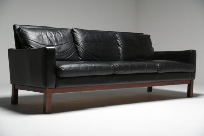 Danish Leather Sofa Rosewood Legs vintage Danish furniture Dublin