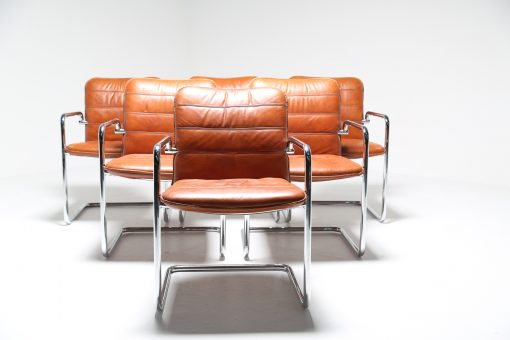 Leather & Chrome Boardroom Chairs