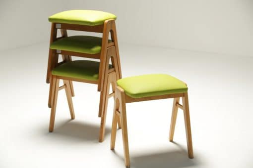 Set of 4 Stacking Stools Ben style vintage furniture Dublin
