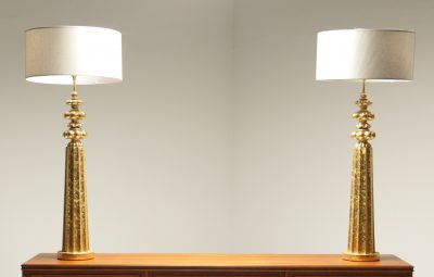Monumental Gilt Decorator Lamps the vintage hub