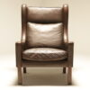 Borge Mogensen Style High Back Wing Chair the vintage hub