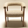 Horseshoe Chair in Donegal Tweed by JV Bowden Vintage Irish furniture