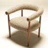 Horseshoe Chair in Donegal Tweed by JV Bowden mid-century Irish furniture