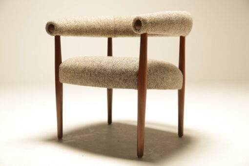 Horseshoe Chair in Donegal Tweed by JV Bowden the vintage hub Dublin
