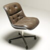 Leather Executive Desk Chair by Charles Pollock for Knoll