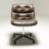 Leather Executive Desk Chair by Charles Pollock for Knoll vintage desk chair