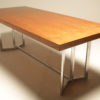 Teak Dining Table on Chrome Base vintage dining table dublin