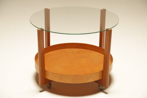 Vintage Teak and Glass Trolley Table