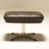 Danish Leather Buttoned Footstool